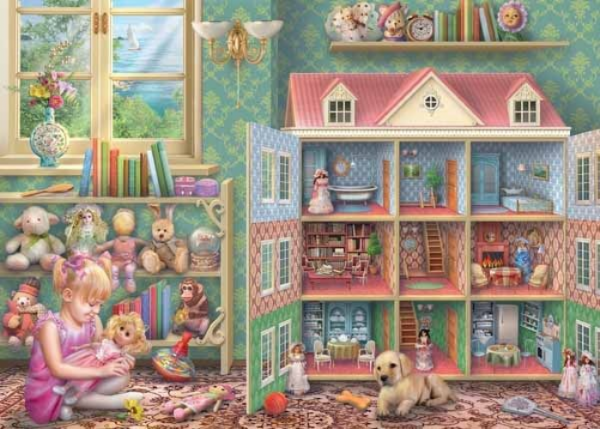 Dolls House Memories, 1,000 piece jigsaw puzzle.